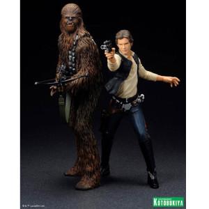 Kotobukiya ArtFX+ Star Wars: Han Solo & Chewbacca 2 Pack Set