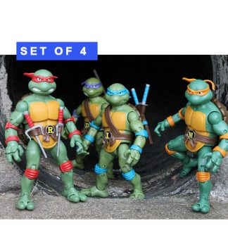 Teenage Mutant Ninja Turtles Classic Set of 4 Figures by Playmates Toys