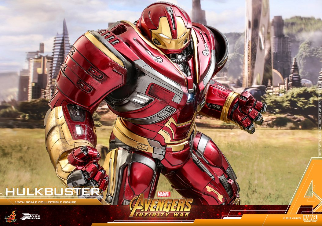 Hot Toys PPS005 Avengers: Infinity War Hulkbuster 1/6th Scale Power Pose  Collectible Figure